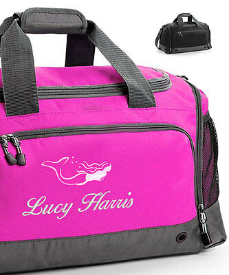 Personalised Embroidered Swimming Holdall Bag with Mermaid, Sport Gym Exercise