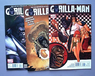 Gorilla-Man #1-3 COMPLETE SET! Marvel Comics 2010 Ltd Series - Avg VF/NM