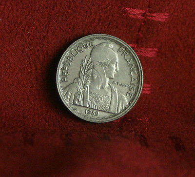 French Indo China 10 Cents 1939 Nickel World Coin KM21.1 Nice Details Vietnam