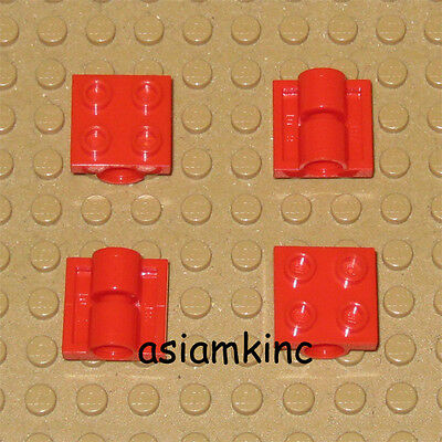 10 LEGO 2X2 DOT RED ROUND PLATES PARTS B387