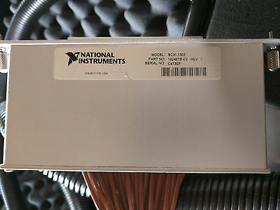 National Instruments SCXI-1303 32 Ch Terminal Block wired to remote input panel