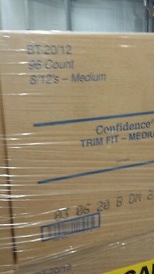 Confidence by Attends Adult Disposable briefs diaper trim fit medium case of 96