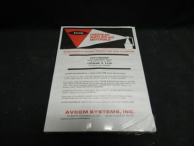 50 AVCOM OptiChrome Overhead Projector Transparency Sheets - Package of 50 - NIP
