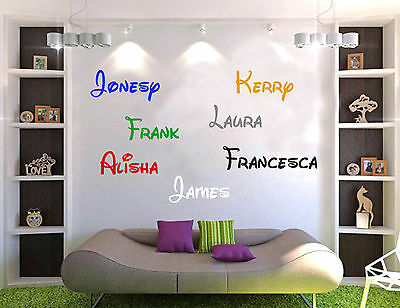 Disney name wall sticker personalised walt vinyl girls boys decal