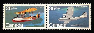 Canada #845-846a MNH, Aircraft Flying Boats Pair of Stamps 1979
