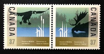 Canada #1204-1205a MNH, Wildlife Conservation Pair of Stamps 1988