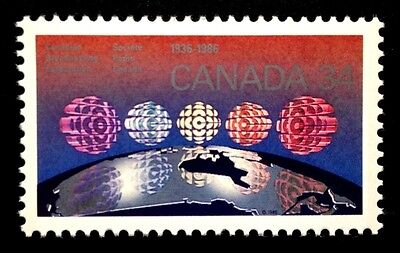 Canada #1103 MNH, Canadian Broadcasting Corporation Stamp 1986