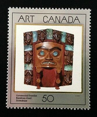 """Canada #1241 MNH, Masterpieces of Canadian Art """"2"""" Stamp 1989"""