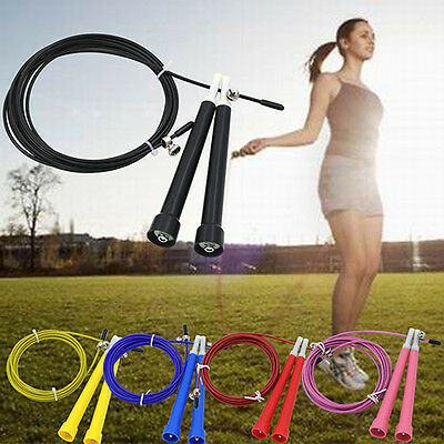 Deluxe Speed Wire Skipping Adjustable Jump Rope Exercise Cardio Crossfit Sport