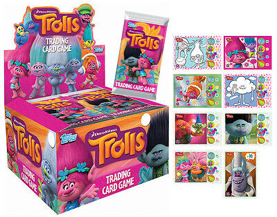 TOPPS Trolls the Movie - Trading Card Game - 10 x Sealed Packs (50 Cards)
