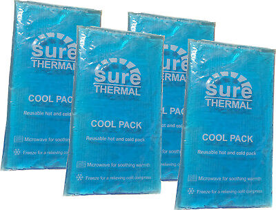 Reusable Hot and Cold Heat Ice Gel Pack X4 FOUR PACK for First Aid,Sports Muscle
