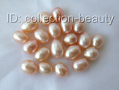 wholesale 20pieces pink freshwater drip pearls loose beads half-drilled m698