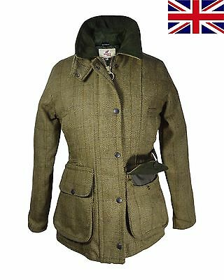 British UK Regents View Ladies Womens Tweed Jacket Teflon Coated Countrywear