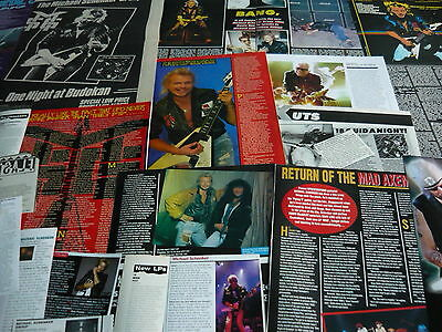 Michael Schenker Group - Magazine Cuttings Collection (Ref T30)