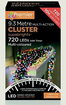 Premier 750 LED Multi Coloured Treebrights Christmas Xmas Light In / Outdoor