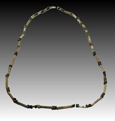 Ancient Egyptian Faience Beaded Necklace Late period, ca. 700-30 B.C.