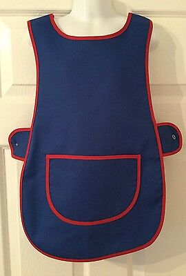 Wholesale Job Lot 10 Brand New Kids Childrens Tabards Aprons Blue Clothes Craft