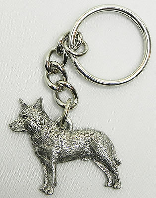 Australian Cattle Dog Keychain Keyring Harris Pewter Made in USA Key Chain Ring