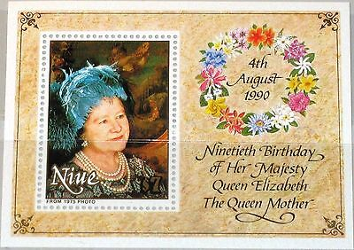 Niue 1990 Queen Mother MS MNH