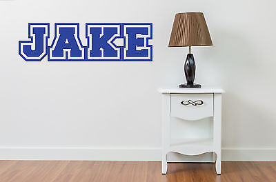 PERSONALISED BOYS WALL NAME STICKER GIRLS Art Childrens Kids Bedroom Decal