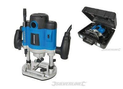 "Heavy Duty Silverline 2050W 1/2"" Plunge Router Cutter Electric 240V Inc Collects"