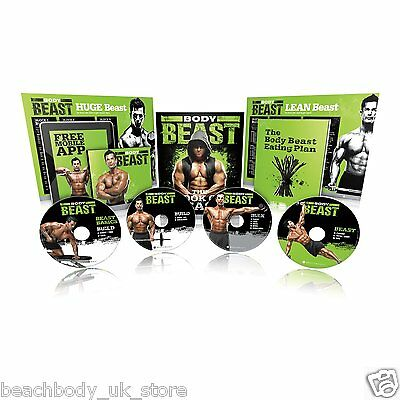Beachbody Body Beast DVD Muscle Building Exercise Fitness Workout Programme NEW