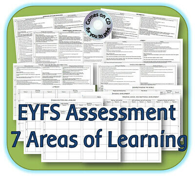 EYFS ASSESSMENT REFERENCE TOOL DEVELOPMENT MATTERS 7 Areas TRACKING RESOURCES CD