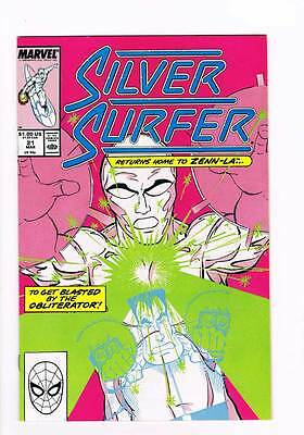 Silver Surfer # 21 Vol 2 1987 series !  grade - 8.5 scarce book !!
