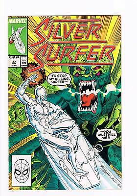 Silver Surfer # 23 Vol 2 1987 series !  grade - 8.5 scarce book !!