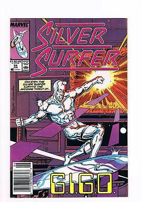Silver Surfer # 24 Vol 2 1987 series !  grade - 8.5 scarce book !!