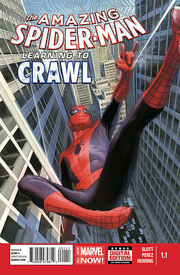 Amazing Spider-Man (2014) #1.1 Vf/nm Learning To Crawl Alex Ross Cover