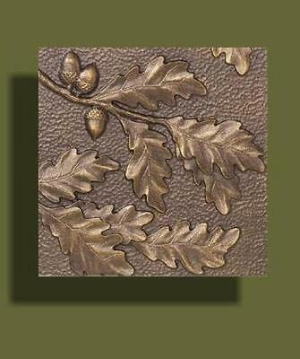 "Arts and Crafts Copper Tone Oak Leaf Tile by Whitehall 8"" x 8"""