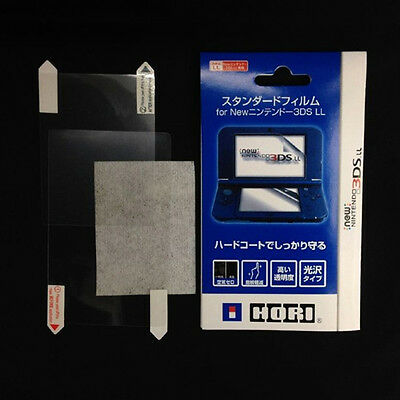 2in1 Top Bottom Clear LCD Screen Protector Cover Film For Nintendo New 3DS LL/XL