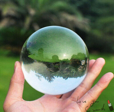 Clear UV Transparent Acrylic contact Juggling ball 70mm + Base