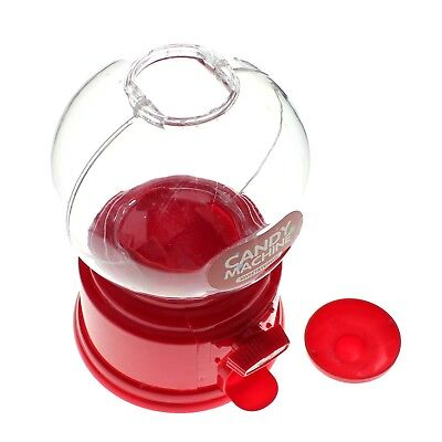 Chic Red Lovely Candy Dispenser Machine Gumball Gum Ball Snacks Storage Box Gift
