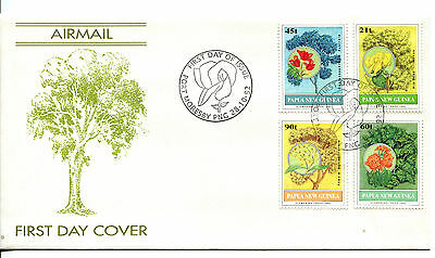 Papua New Guinea 1992 Flowering Trees FDC