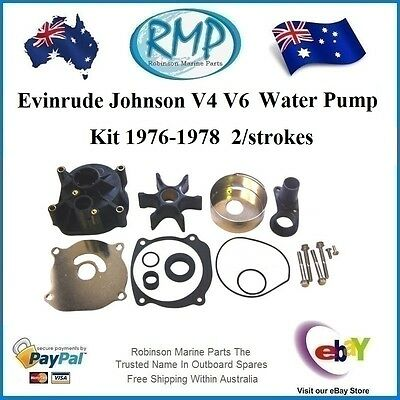 A Brand New Water Pump Kit Suits Evinrude Johnson V4 / V6 1976-1978 # R 395073