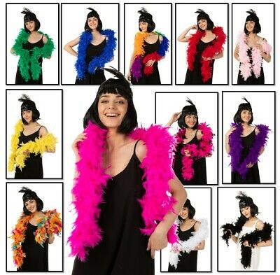 80G Luxury Feather Boa Dance Burlesque Fancy Dress UK 1.9M Thick 16 Colors UK