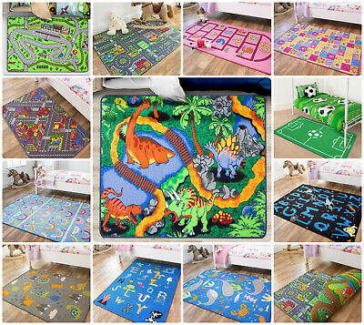 Childrens Small Large Girls Boys Bedroom Playroom Floor Mat Kids Play Fun Rugs