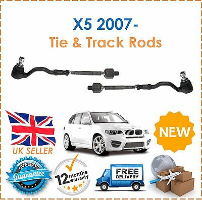 Fits BMW X5 E70 2007- 2 Outer & 2 Inner Tie Track Rack Rod Ends NEW OE Quality!!