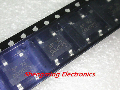 20PCS DB207S 2A 1000V SMD Bridge Rectifiers