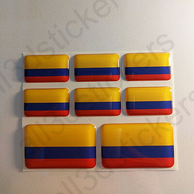 Sticker Colombia Resin Domed Stickers Colombia Flag 3D Vinyl Adhesive Decal Car