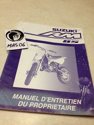 Suzuki RM85 RM 85 manuel atelier propriétaire workshop manual éd. 2001