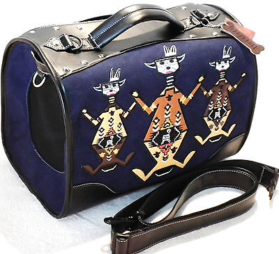Backbone Embroider Egyptian Art Bird Dog Cat Pet Carrier 60%Off BA7069