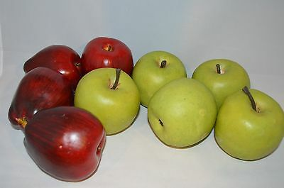 Apples - Realistic Fake Faux Red Green Kitchen Decor Theater Stage Prop Wreath
