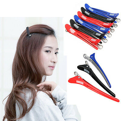 Practice 12Pcs Professional Hairdressing Salon Section Hair Clips Styling Tools
