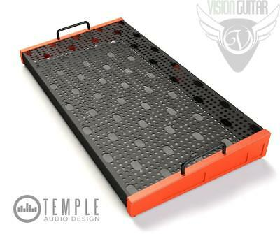 "Temple Audio Design Duo 24 (24.5"" x 12.5"") Pedalboard - Temple Red"