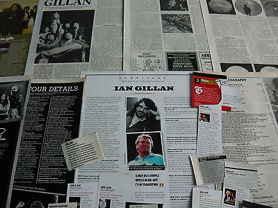Gillan - Magazine Cuttings Collection (Ref E8)