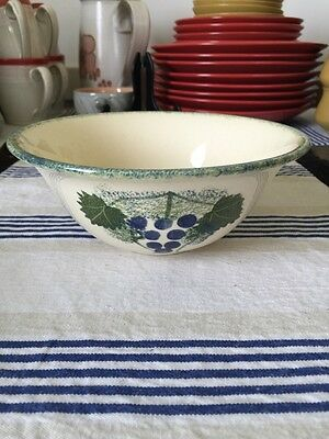 """Poole Pottery Vineyard 6 1/2"""" Soup Cereal Bowl Pattern Outside X 2"""