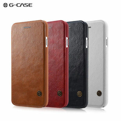 G-Case Luxury Leather Flip Cover Wallet Card Case For iPhone 5/SE/6S/X/7/8/Plus